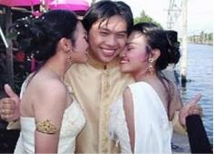 泰国一名男子同时迎娶双胞胎姐妹(图)