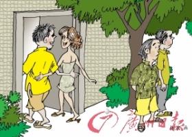 媳妇卖淫公婆在出租楼外看风(图)