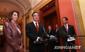 吴邦国会见美众议长佩洛西讨论双边关系