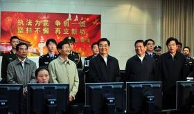 胡锦涛考察北京国庆期间安保交通及旅游工作