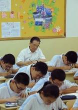 温家宝谈在中学听课感受 强调树立先进教育理念