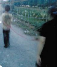 父亲绳牵15岁儿子游街示众引围观