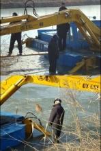 六旬老人因所承包鱼塘被挖在挖掘机上自缢身亡